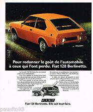PUBLICITE ADVERTISING 065  1975  FIAT 128  BERLINETTA