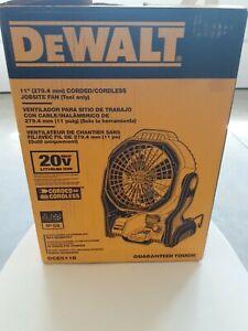"Brand New open box DEWALT DCE511B 20V MAX 11"" Cordless/Corded Jobsite Fan"