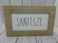 Rae Dunn Decorative Wood Block Sign Sanitize 2020 NEW