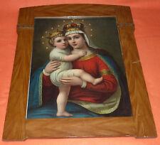 Bekrönte Mutter Gottes mit bekröntem Jesuskind Gemälde Otto F. Leiber Straßburg