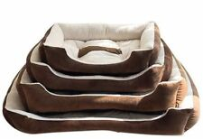 2x Dog Bed Pet Cat soft warm cushion machine washable Deluxe Puppy Fleece Lining