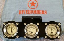 2 1/8 Gauge Panel Bomber style Custom triple gauge Gasser Hot Rod Bezel rat rod