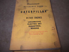 Caterpiller Servicemans Reference Book D17000 ENGINES  FORM 30235