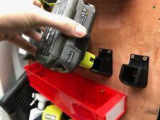 4x BATTERY MOUNTS for RYOBI 18v ONE+ Storage Holder Shelf Rack Stand Slots Plus
