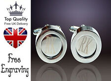 Gift Wedding Best Man Uk Personalised Engraved Jewellery Silver Cufflinks Great
