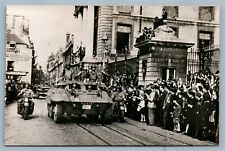 LIBERATION of DIJON WWII VINTAGE REAL PHOTO POSTCARD RPPC