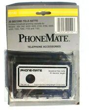Vintage Phonemate Telephone Accessories Broadcast Tele-Sette 20 Seconds Tape