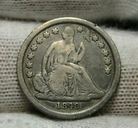 1840 Seated Liberty Dime, 10 Cents.. Key Date Only 981,500 Minted..  Nice (8966)