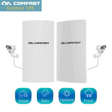 COMFAST 2pcs Wireless Outdoor CPE Bridge 300Mbps Point Router Signal High Power
