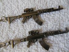 AK - 47- (( Assault Weapon with scope ))-Keychain**Lot-of-2**Free  Shipping***