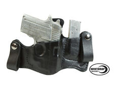 Sig Sauer P238 Sig Laser IWB Dual Snaps Attached Magazine Holster R/H Black