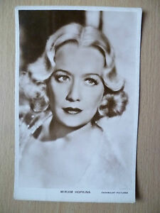 Film Star Real Photo Postcard- MIRIAM HOPKINS, Paramount Pictures