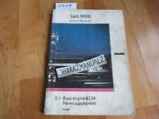 1990 Saab 9000 Basic Engine B234 News Supplement Service Manual