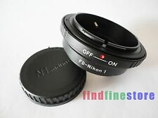 Canon FD FL Lens to Nikon 1 N1 J1 J2 J3 J4 J5 S1 V1 V2 V3 AW1 adapter + CAP