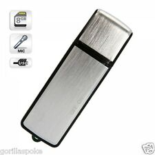 8GB SPY Digital Voice Recorder - Windows & Mac Compatible - Free P&P Worldwide!