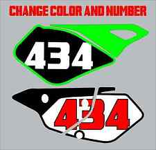 Kawasaki KLX400 Number Plate Backgrounds 400sm 400S 400r 400 s r Decals Graphics