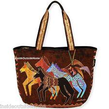 Laurel Burch Native Horses Large Tote Bag Arabian Andalusian Mustang Paint NW