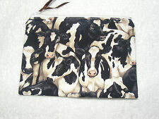 ' Cow ' Print Fabric Handmade Make up Bag