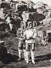 1934 Vintage 11x14 GREENLAND Native Eskimo Women Boots Costume Switzerland HEIM