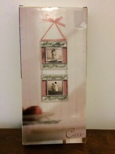 "Metal CARR Double Hanging Picture Frame ""Atrium Wallflowers Pink - NIB"