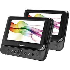 """Sylvania SDVD8747 7"""" LCD Screen Portable Car Mountable 2-Monitor DVD Player -A-"""