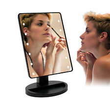 Shaving/Makeup Cosmetic 16LED Lighted Mirror Desktop Stand+10X Magnifying Mirror