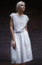 Eileen Fisher New White Oval Organic Linen C / L Skirt Plus 3X $248