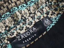 ZALORA,Premium GreenGoldStripeAlinePocketedMiniSzM