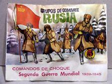 MONTAPLEX Sobre Grupos de Combate RUSIA CCCP 2ª GM con soldaditos años 70 URSS