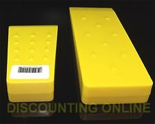 """SET OF TWO TREE FALLING BUCKING WEDGES Yellow 5.5""""  8"""" LOGGING WEDGE STRONG ABS"""