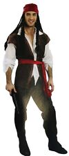 Pirate Deluxe Jack Sparrow Adult Mens Costume Outfit Cosplay One Size New