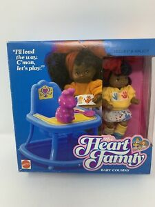 The Heart Family African American Melody & Walker Baby Cousins Doll 1987 NRFB