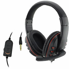 Wired 3.5mm Headset Headphone Earphone Music Microphone For PS4 Game PC Chat YS