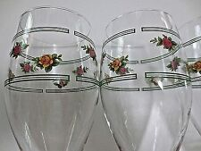 Vintage Set of 4 Old Country Roses 16 oz. Water Goblets / Unused / 12 Available