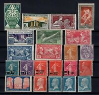 K139658/ FRANCE – YEARS 1923 - 1930 MINT MNH / MH SEMI MODERN LOT – CV 130 $