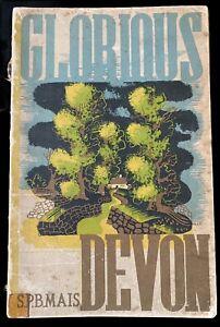 Edward McKnight Kauffer GLORIOUS DEVON 1934 Travel Guide 1930's S P B MAIS