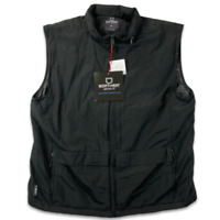 Scottevest Mens Sleeveless Front Zip Cargo Pockets Black Vest Jacket Size XL