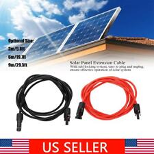 Solar Panel Photovoltaic Extension Cable Wire Connector Electrical Cord Red+Blac