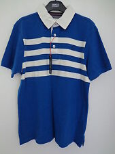 BNWT MENS M&S BLUE HARBOUR SHORT SLEEVED BLUE/CREAM/WHITE POLO SHIRT SIZE XXL
