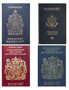 Passports Actual Size Cake Toppers printed on Icing Sheet Set N1