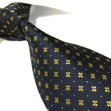 "Extra Long Polyester Woven Tie,Microfibre Navy Blue Men's  XL Necktie PL361 63"""