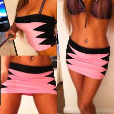 sexy mini Rock ROSA blauTop hot Wetlook Marke SM-Design skirt jupe