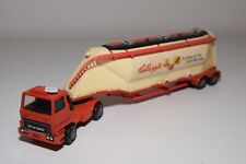 1:50 MATCHBOX BEDFORD TRUCK WITH TRAILER SILO KELLOGG'S EXCELLENT CONDITION