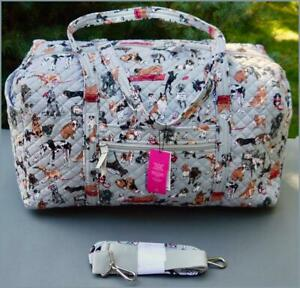 Vera Bradley Large Travel Duffel 🐾 BEST IN SHOW 🐶 DOGS - Limited Edition NWT