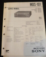 Original Service Manual Sony MDS-101