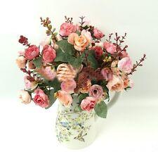 21 Köpfe Seidenblumen Kunstblumen Künstliche Blumenstrauß Floristik Dekoration