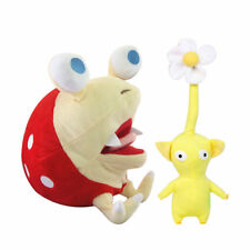 """2pcs Pikmin Games Bulborb Yellow Flower & Chappy Plush Toy Doll 10.5"""" Great Gift"""