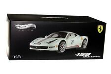 FERRARI 458 CHALLENGE WHITE #3 DIE CAST 1/18 BY HOT WHEELS ELITE X5487