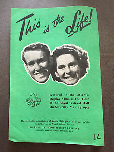 "1952 ROYAL FESTIVAL HALL ""THIS IS THE LIFE!"" SHEET MUSIC"