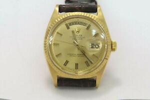 ROLEX OYSTER PERPETUAL VINTAGE DAY-DATE 18K GOLD REF1803 GOOD CONDITION !!